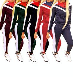 frauen kleidung damenmode trainingsanzüge damen langarm hoodie und sweatpants 2 stücke set frau
