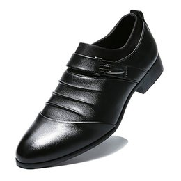 $enCountryForm.capitalKeyWord UK - PU Leather Fashion Men Business Dress Loafers Pointy Black Shoes Oxford Breathable Formal Wedding Shoes HH-586