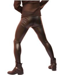 Stylish Leggings Australia - 2019 Men Sexy Slim Fit Trousers Leggings Tight Pants Skinny Black Casual Elastic Stylish New
