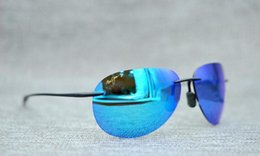 c1202121e8d Brand designer maui jim sunglasses mj421 rimless 421 Uv protection luxury  men women driving outdoor polarized sunglasses with mj case