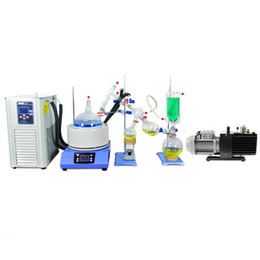 ZOIBKD Lab Supplies Small Short Path Distillation 5L kit Stirring Heating Mantle One-stop shopping Chiller&Vacuum pump