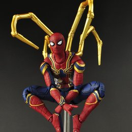 Spider Man Action Figures For Australia - 16CM Movie Avengers4 Infinity War Iron Spider Man Action Figure Cartoon Anime Movable PVC Figures Toy Model Doll for Kids Birthday Gif C32