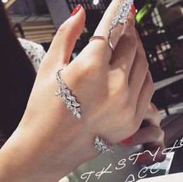 Free ear rings online shopping - designer jewelry sets wings shape palm cuff ear of wheat rings for women hot fashion free of shipping