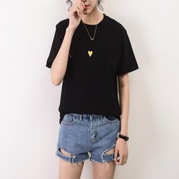 Love Tees Australia - New Summer Tops Office Lady Tees Cotton Short Sleeve Black T Shirts Female Love Print Casual T Shirts Women