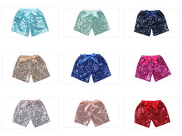 $enCountryForm.capitalKeyWord Australia - Mix 11 colors 2019 Baby Kids Girls Sequins Shorts With Bow elastic Mini Pants Casual Pants Children Infant Glitter Bling boutique clothing