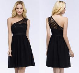 $enCountryForm.capitalKeyWord Australia - 2019 Summer Black Lace Short Prom Dresses Sexy One Shoulder Open Back Evening Party Dress Robe De Soiree Courte CPS864