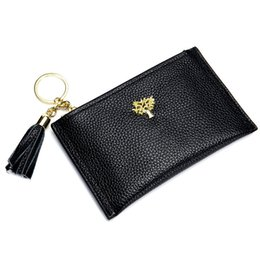 Leather fiLe bags online shopping - Charm2019 Fresh Small Change Ma am Zipper High File Package Key Buckle Business Card Baotou Layer Cowhide