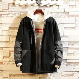 $enCountryForm.capitalKeyWord Australia - Classic Broken Old Splice Jacket Denim Jeans Jackets Coats Spring Leisure Loose Vintage Style Men Casual Clothing 2019 New
