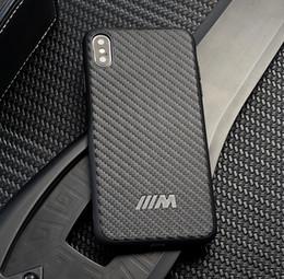 Fiber Max Australia - Carbon Fiber BMW AMG Motorsport Case For iPhone XS Max XR XS X 8 Plus 7 6S 6 Plus Samsung S10 Plus Huawei