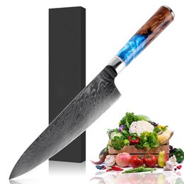 $enCountryForm.capitalKeyWord Australia - Chef knife Damascus steel 67 layer VG10 professional Japanese knife sharp Cleaver Slicing Kiritsuke Gyuto kitchen knife stable solid wood ha