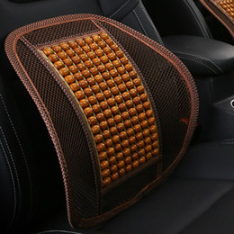 Wood Office Chairs Australia - Home Office Car Seat Chair Cool Back Waist Support Cushion Wood Beads Massage
