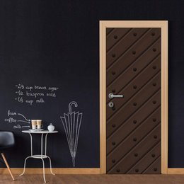$enCountryForm.capitalKeyWord NZ - Door Wall Mural Wallpaper Stickers Brown Gate Vinyl Removable Decals for Home Room Decoration Door Cover