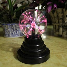 Sphere lightS online shopping - Magic Crystal Plasma Ball Light Lightning Sphere Party USB Operated Electrostatic Induction Balls Party Decoration for Kids Gift