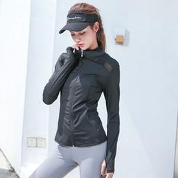 Full Zip Jacket Polyester Australia - Winter Women Sport Jacket Long Sleeve Full Zip Up Jacket Sweater Patchwork Sweatshirt Running Jogging Fitness Gym Workout