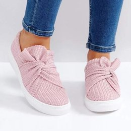 0d181af6e76d Bowknot loafers Drop Shipping Womens Straw weaving Flat Shoes Casual  Butterfly Knot Comfy Slip On Shoes Large Size35-43