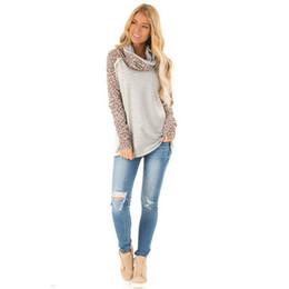 $enCountryForm.capitalKeyWord Australia - Women Leopard Scarf Collar Sweatshirts Autumn Nice Female Long Sleeve Gray Casual Hoodies Ladies Outwear Tops
