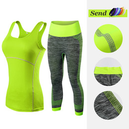 $enCountryForm.capitalKeyWord Australia - Fitness Clothing Stripe Sleeveless Tennis Yoga Vest+pants Running Tight Jogging Workout Clothes For Women Tracksuit Sport Suit Q190517