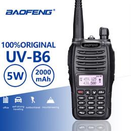 $enCountryForm.capitalKeyWord Australia - BaoFeng UV-B6 Portable Walkie Talkie 5W Long Range Two Way Radio Dual Band UHF VHF Interphone B6 Woki Toki FM Radio Transceiver