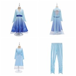 christmas clothes Australia - Wholesale 3pcs set Snow queen II baby girls Costume clothing outfits Dress+pant+coat 3pcs children cosplay dress up for christmas party