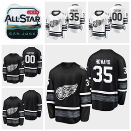 970f500c1 2019 All Star Game Jimmy Howard Customize Detroit Red Wings Hockey Jerseys  Black White Jersey  35 Jimmy Howard Stitched Shirts Best Quality