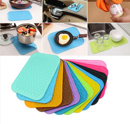 565cf3584c9 Square pot holderS online shopping - Food Grade Multifunction Resistant  silicone Mats coaster Non slip silicone
