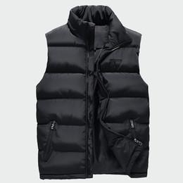 Cotton Windbreakers Australia - Men's Sleeveless Jacket Fashion Thicken Cotton Vest Hooded Autumn Warm Vest Winter Male Waistcoats Men Casual Windbreakers Ml079