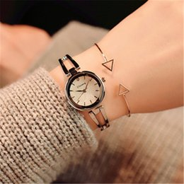 cheap rose watches Australia - Women's Bracelet European Retro Small Dial Wristwatches Factory Wholesale Cheap Rose Gold Silver Alloy Womens Watches Luxury Ladies Dress