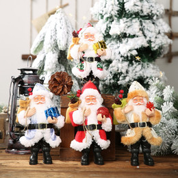 $enCountryForm.capitalKeyWord Australia - Resin Santa Claus Doll Holiday Figurine Christmas Gift Table Decoration for Home Wooden Xmas Tree Ornaments Xmas Gift for Kids