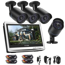 channel vision UK - COTIER A4B5-P12 Kit 4 Channel 720P 1.0 Mega Pixel 4 x Bullet AHD Cameras 12.5 inch LCD Screen DVR Kit, Support Night Vision   Motion Detecti