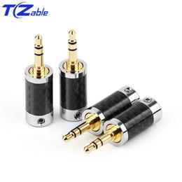 $enCountryForm.capitalKeyWord Australia - 3.5mm Headphone Adapter Metal Splice 3 Pole Stereo Carbon Fiber Earphone Male Plug HiFi Headphone Jack Solder Connectors Audio