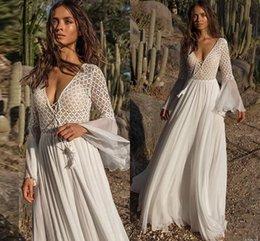 Toptan satış 2019 Boho Stil Kadınlar Dantel Elbise Yaz Gevşek Rahat Plaj Salıncak Elbise tek parça playsuits Şifon Dantel Bayan Giyim Güneş Elbise