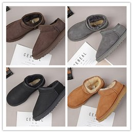 $enCountryForm.capitalKeyWord Australia - HOT SALE New Fashion classic low winter Snow boots real leather Bailey Bowknot women's bailey bow snow boots men sports outdoor sneaker 22