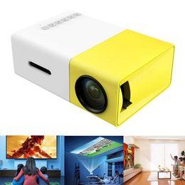Av Speakers Australia - Original AAO YG-300 Mini Portable LED LCD Projector 320 x 240 Pixels Support 1080P With AV USB SD Card HDMI Interface Build-in Speaker