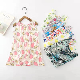 years old baby girl dresses NZ - baby girl clothes designer kids girls clothing Summer beach Dresses 2-8 years old 8 Colors Floral Dress for Girl