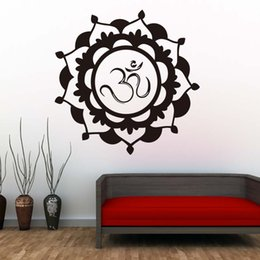 $enCountryForm.capitalKeyWord Australia - 1 Pcs Indian Religious Mandala Wall Sticker Flower Lotus Vinyl Self Adhesive Home Decor Art Murals Living Room New Style Design