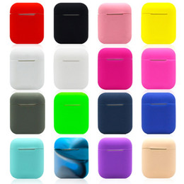 wholesale electronics Australia - 18 Colors For Apple Airpods Silicone Case Soft TPU Ultra Thin Protector Cover Sleeve Pouch for Air pods Earphone Case