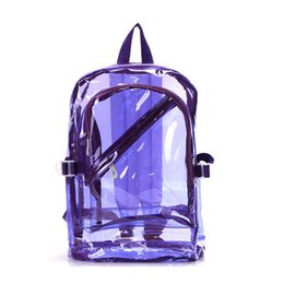 $enCountryForm.capitalKeyWord NZ - Wholesale- Transparent Clear Plastic Waterproof Backpack for Teenage Girls PVC School Bags Shoulders Bag1564020115828