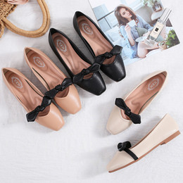 $enCountryForm.capitalKeyWord NZ - New 2019 summer women designer shoes ladies flat soft leather with bowtie comfortable ballet flats,ladies leisure loafers party dress shoes
