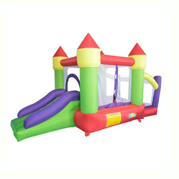 Used Toys Wholesale Australia - YARD En14960 En71 Certificated Easy To Carry Home Use Indoor Moonwalk Bounce House Inflatable Jumping Castle With Ball Pit