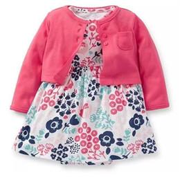 Floral Baby Suit Australia - 2019 Summer Newborn Baby Girls Sets Infant Clothing Bodysuit Dress Floral+coat 2pcs Toddler Little Outfit Cotton Babies Suit Y19061303