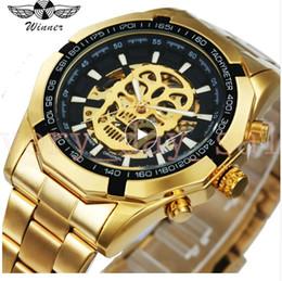 $enCountryForm.capitalKeyWord NZ - WINNER New 45mm Fashion Mechanical Watch Men Skull Design Top Brand Luxury Golden Stainless Steel Strap Skeleton Man Auto Wrist Watch