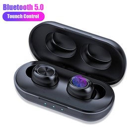 Touch mic online shopping - TWS Earphones B5 Wireless Bluetooth Headphone Waterproof D Stereo Sports Headset Touch Control Earbuds mAh Charging Case With Mic