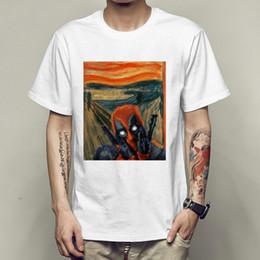 ece95b87d181e2 3xl Deadpool Shirt NZ - Skrik t shirt Deadpool the scream short sleeve tees  Edvard Munch
