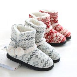 VelVet socks online shopping - High top plus velvet platform bag with cotton slippers Hairball Plush slip on Indoor warm socks shoes Winter ladies slippers