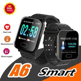 $enCountryForm.capitalKeyWord Australia - A6 Men Smart Watch Fitness Tracker Wristband Color Touch Screen Water Resistant Smartwatch Phone Heart Rate Monitor for IOS Android Gift