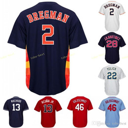 Houston Jersey 2 Alex Bregman Astros Stitched Men s Majestic Alternate Blue  White Rainbow Official Cool Base Player Baseball Jerseys b210f1d73