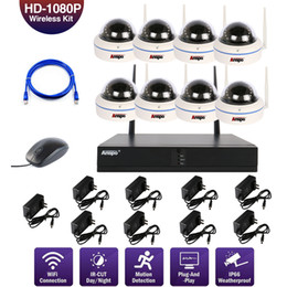 Wholesale 8 CH 1080P HD Wireless WIFI Outdoor Dome CCTV Home Camera Security NVR System