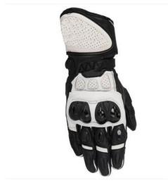 $enCountryForm.capitalKeyWord UK - SP Plus R Genuine Leather Gloves Sport Bike Street Track Motorcycle Gloves Black White