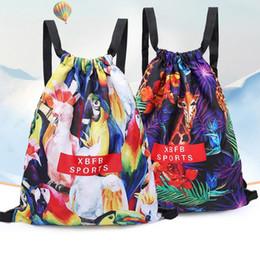 $enCountryForm.capitalKeyWord Australia - Cartoon camo drawstring backpack outdoor sports travel storage bag swimming beach packs waterproof shoulder bags for women girls juniors