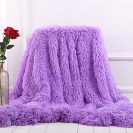 Discount warm cozy blankets - Super Soft Long Shaggy Fuzzy Fur Faux Fur Warm Elegant Cozy With Fluffy Sherpa Throw Blanket Bed Sofa Blanket Gift